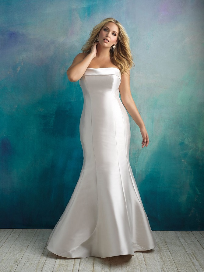 NYBG-Charlotte-NC-Allure-Women-plus-sized-strapless-Mikado-wedding-dress-W412.